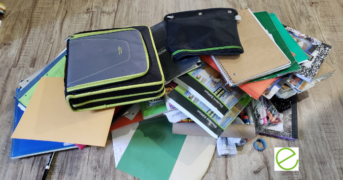 How to Organize End-of-Year School Supplies